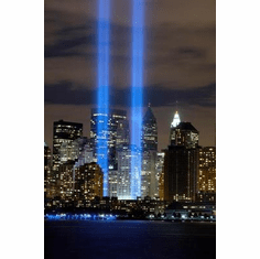 World Trade Center Art Poster Twin Towers Tribute Lights Wtc 24in x36 in