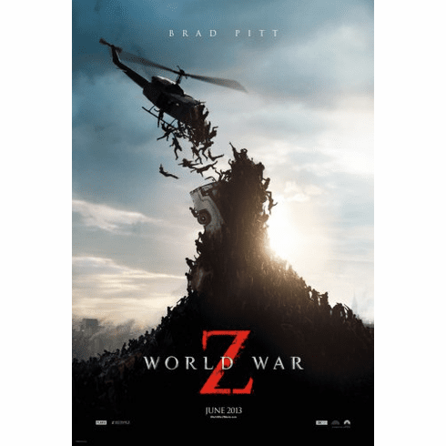 World War Z Movie Poster 24inx36in Poster