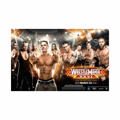Wrestlemania Xxvi 26 8x10 photo master print