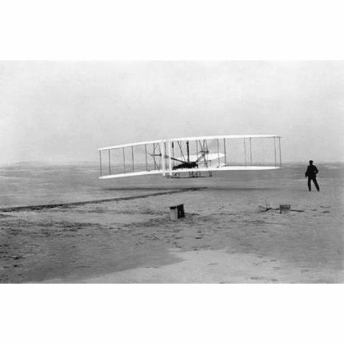 """Wright Brothers Black and White Poster 24""""x36"""""""