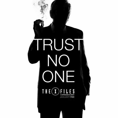 "X-Files The Black and White Poster 24""x36"""