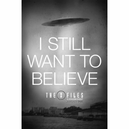 """X-Files The Black and White Poster 24""""x36"""""""