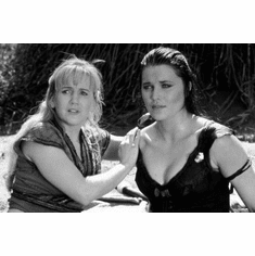 "Xena And Gabrielle Black and White Poster 24""x36"""