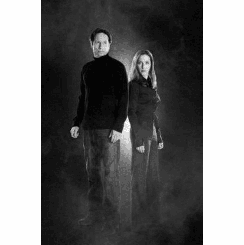 "Xfiles Cast Black and White Poster 24""x36"""