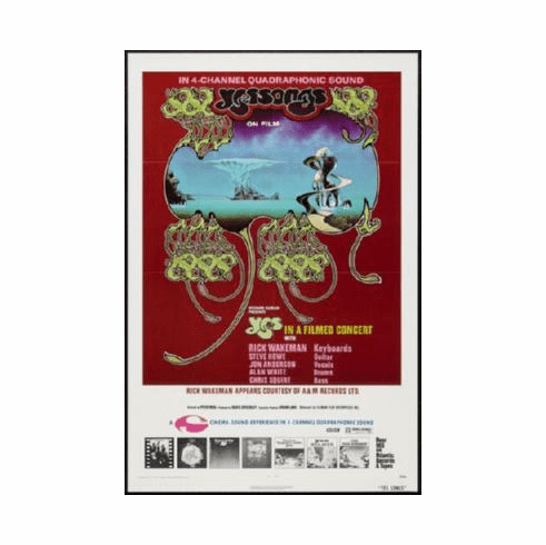 Yes Poster Songs Concert 24inx36in
