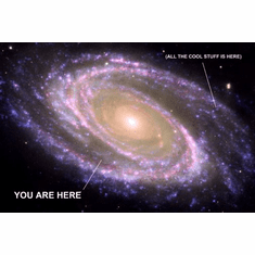 You Are Here Galaxy Photo Poster Cool Stuff Is Here 24inx36in