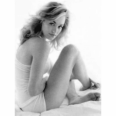 "Yvonne Strahovski Black and White Poster 24""x36"""