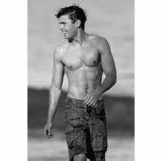 "Zac Efron Black and White Poster 24""x36"""