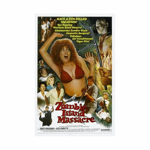 Zombie Island Massacre Movie Poster 11x17 Mini Poster