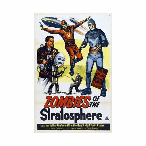 Zombies Of The Stratosphere Movie Poster 11x17 Mini Poster
