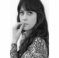 "Zooey Deschanel Black and White Poster 24""x36"""