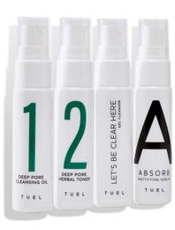 Tuel Detox Travel Pack Mini Set With Gel Cleanser 4 x 1.0 fl oz.