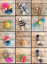 POM POMS TASSELS AND CHARMS