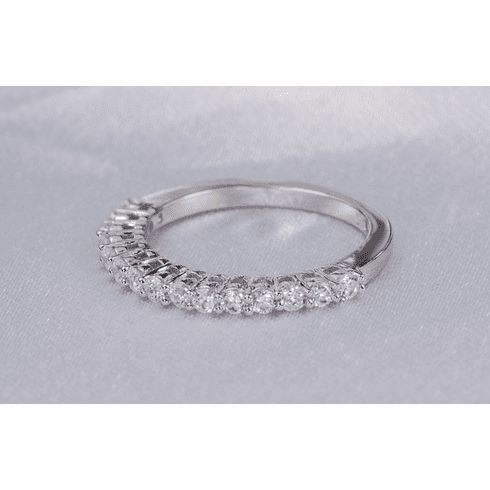 Engagement Ring Eternity Ring Wedding Ring CZ Eternity Band Simulated Diamond Ring 925 Sterling Silver Ring SKU:00191