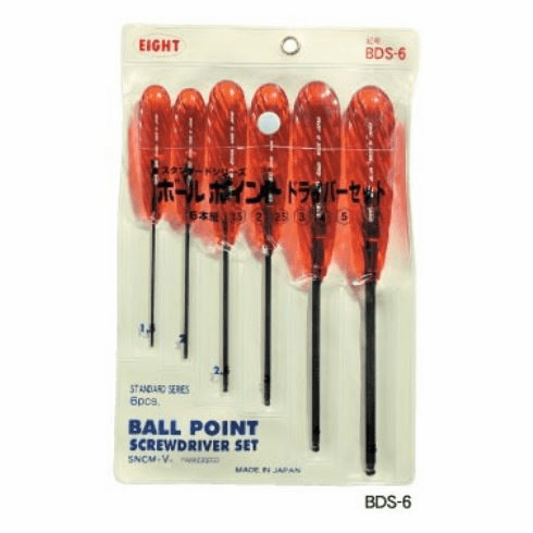 EIGHT 6 Piece Ball Hex Key Driver Set, BDS-6