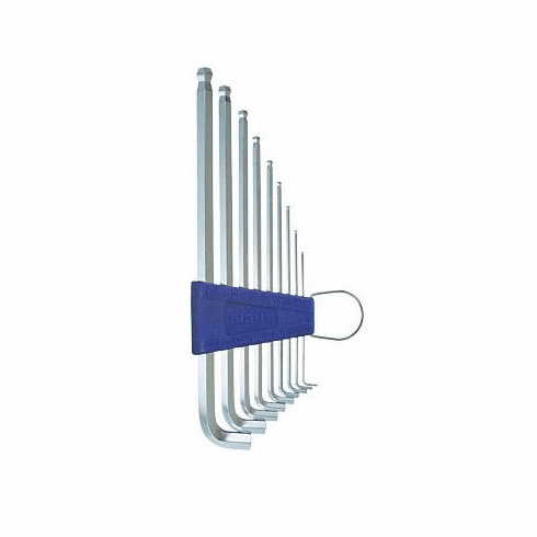 EIGHT Taper Head Short Arm Hex Key Set, TTS-9