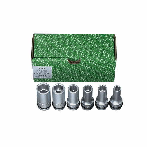FPC 1/2dr. 6pc. Thinwall Semi-Deep Impact Socket Set, 4WG-7S