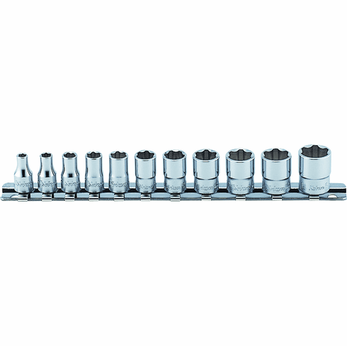 Koken 1/4dr. 6pt Surface Drive Socket Set, # RS2410M/11