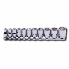 Koken 1/4dr. Socket Set., 12pt. # RS2405M/11