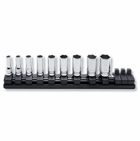 Koken Zeal 1/4dr. Semi Deep Socket Set, RS2300XZ/9