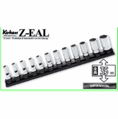 Koken Zeal 3/8dr Semi Deep 12pc.Socket set, RS3300XZ/12
