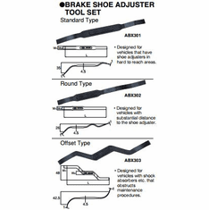 KTC Brake Shoe Adjuster Tool Set, ATBX33