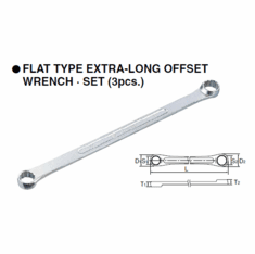 KTC Flat Type Extra-Long Offset Wrench Set, M1603