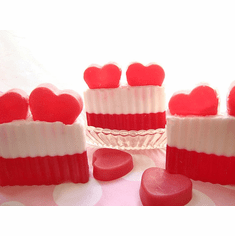 Candy Hearts Double Layered Soap