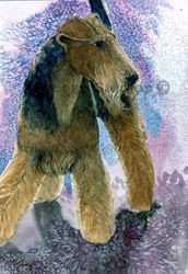 """Airedale Terrier """"Rose"""" Limited Edition Print"""
