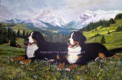 "Bernese Mountain Dog ""Wild Flowers"""