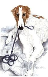 "Borzoi ""Love my Teddy"""