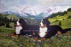 Large Custom Portraits of multiple dogs