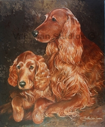 "Irish Setter ""Mom and Pup"""