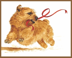 "Norfolk Terrier ""Red Ribbon"" Limited Edition Print"