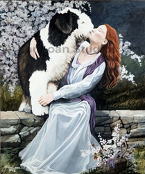"Old English Sheepdog ""The Garden Wall"""