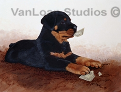 "Rottweiler ""I Can Change a Five"""