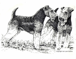 "Welsh Terriers ""Standing Pair"" Limited Edition Print"