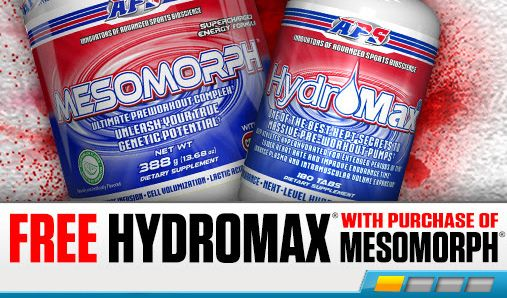 Free HydroMax With Purchase Of Mesomorph
