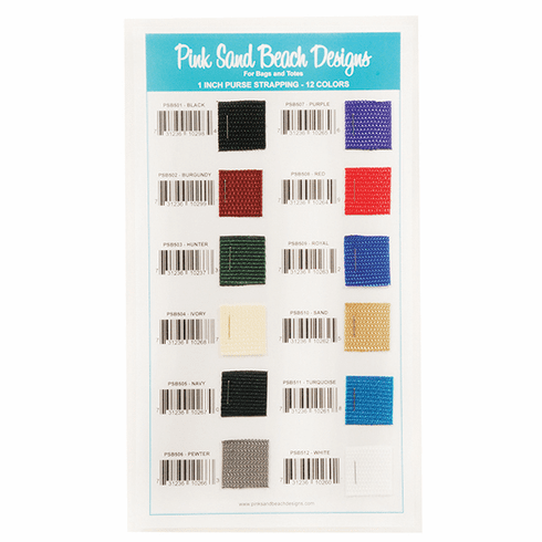 "1"" Polypro Purse Strapping - Sample Color Card"