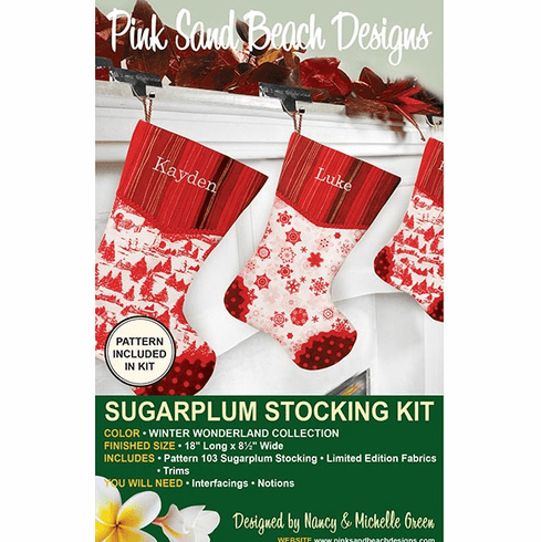 103K Sugarplum Stocking KIT - Winter Wonderland