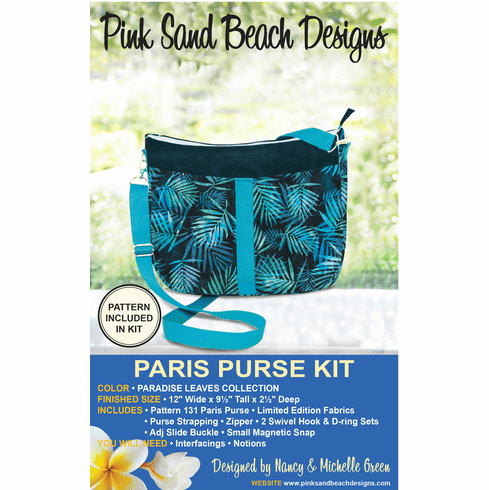 131K Paris Purse KIT - Paradise Leaves