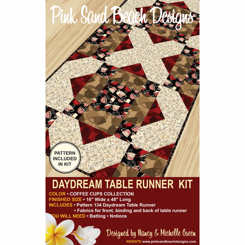 134K Daydream Table Runner KIT - Coffee Cups