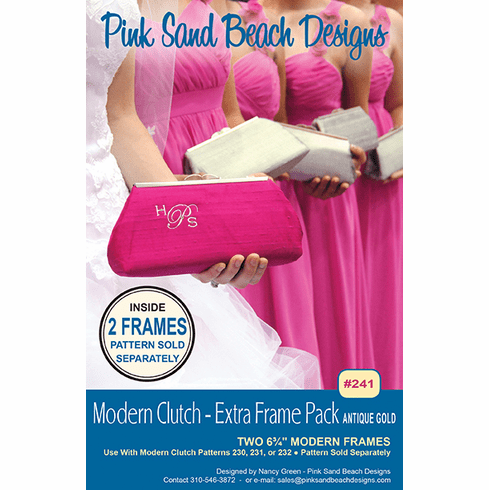241 Modern Clutch Extra Frame Pack - ANTIQUE GOLD - 2 Frames Per Pack