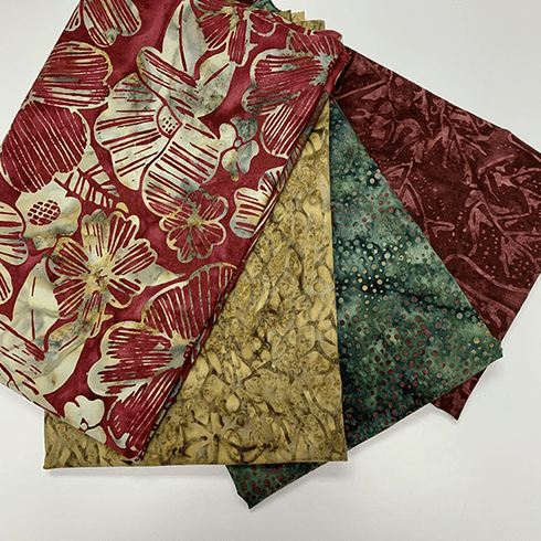 4 - Half Yard Bundle - Autumn Leaves Batiks