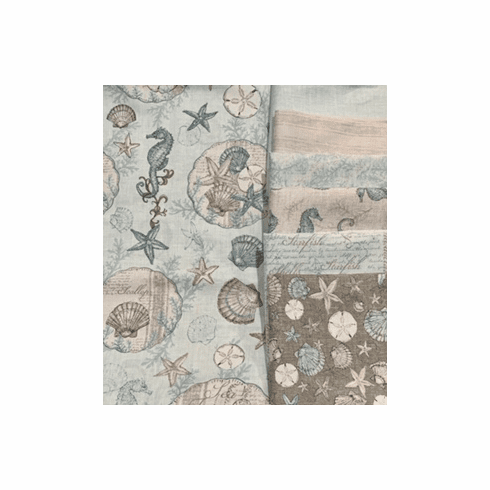 Coastal Wishes - 1 Yard Fabric Bundle