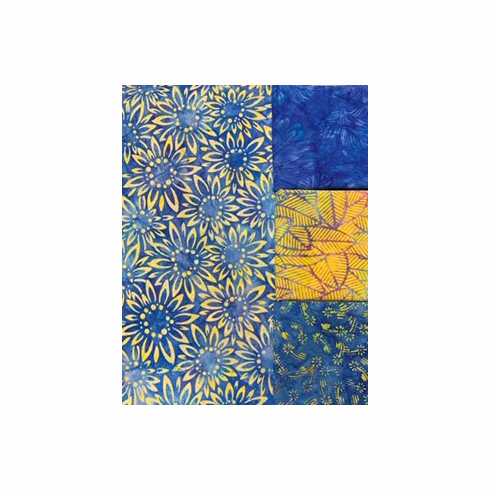 Sunflower Blue Batiks - 1 Yard Bundle