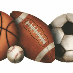874448 Die-cut Sports Wallpaper Border BH1759b