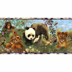 875084 Vanishing Animals Wallpaper Border