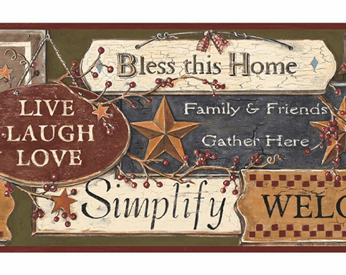 876726 Country Signs Wallpaper Border PC3976bd
