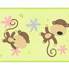 876832 Monkey Wallpaper Border